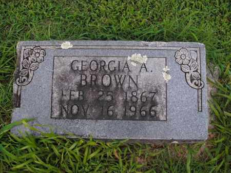 BROWN, GEORGIA A. - Boone County, Arkansas | GEORGIA A. BROWN - Arkansas Gravestone Photos