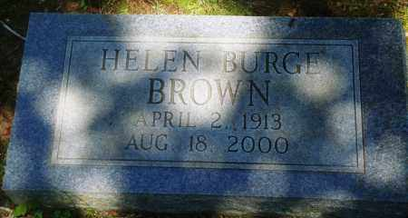 BURGE BROWN, HELEN - Boone County, Arkansas | HELEN BURGE BROWN - Arkansas Gravestone Photos