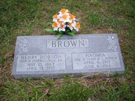 BROWN, HENRY HOBSON - Boone County, Arkansas | HENRY HOBSON BROWN - Arkansas Gravestone Photos