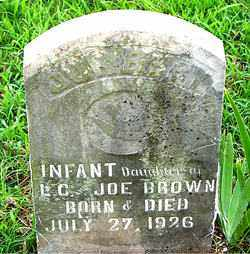 BROWN, INFANT DAUGHTER - Boone County, Arkansas | INFANT DAUGHTER BROWN - Arkansas Gravestone Photos
