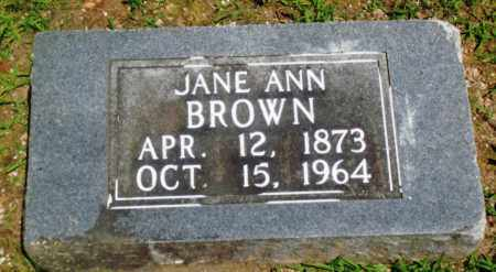 BROWN, JANE ANN - Boone County, Arkansas | JANE ANN BROWN - Arkansas Gravestone Photos