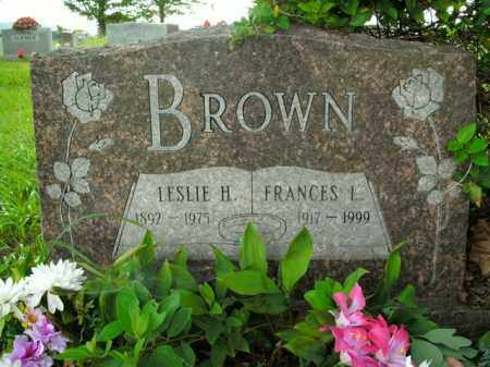 BROWN, LESLIE H. - Boone County, Arkansas | LESLIE H. BROWN - Arkansas Gravestone Photos