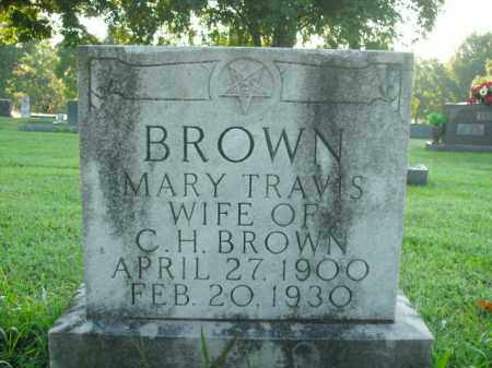 TRAVIS BROWN, MARY - Boone County, Arkansas | MARY TRAVIS BROWN - Arkansas Gravestone Photos