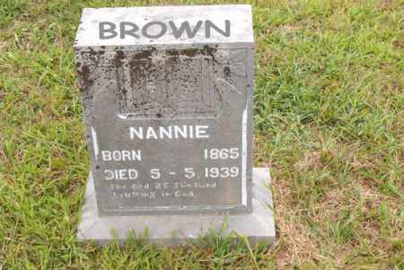BROWN, NANNIE - Boone County, Arkansas | NANNIE BROWN - Arkansas Gravestone Photos