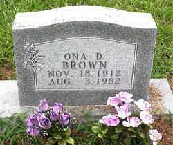 BROWN, ONA D - Boone County, Arkansas | ONA D BROWN - Arkansas Gravestone Photos