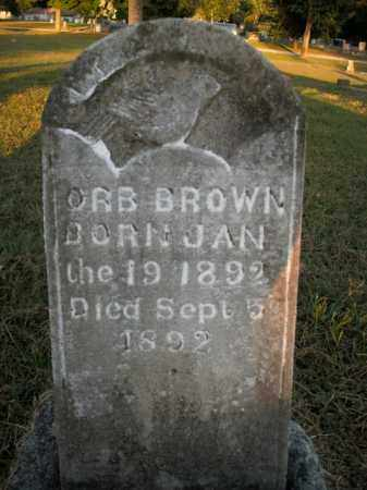 BROWN, ORB - Boone County, Arkansas | ORB BROWN - Arkansas Gravestone Photos