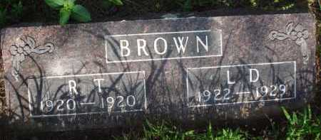 BROWN, R. T. - Boone County, Arkansas | R. T. BROWN - Arkansas Gravestone Photos