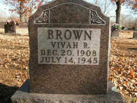BROWN, VIVAH R. - Boone County, Arkansas | VIVAH R. BROWN - Arkansas Gravestone Photos