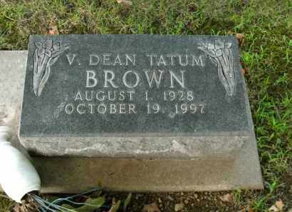 BROWN, V. DEAN TATUM - Boone County, Arkansas | V. DEAN TATUM BROWN - Arkansas Gravestone Photos