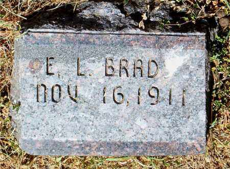 BRAD, E.  L. - Boone County, Arkansas | E.  L. BRAD - Arkansas Gravestone Photos