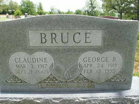BRUCE, CLAUDINE - Boone County, Arkansas | CLAUDINE BRUCE - Arkansas Gravestone Photos