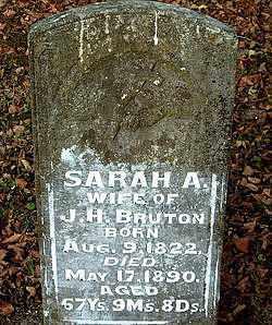 BRUTON, SARAH  ANN - Boone County, Arkansas | SARAH  ANN BRUTON - Arkansas Gravestone Photos