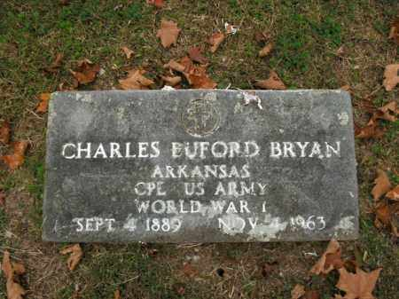 BRYAN  (VETERAN WWI), CHARLES BUFORD - Boone County, Arkansas | CHARLES BUFORD BRYAN  (VETERAN WWI) - Arkansas Gravestone Photos