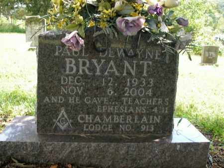BRYANT, PAUL DEWAYNE - Boone County, Arkansas | PAUL DEWAYNE BRYANT - Arkansas Gravestone Photos