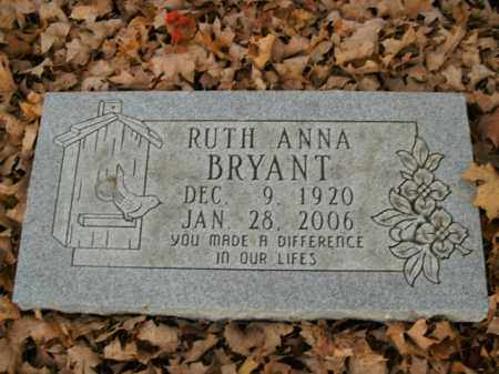 BRYANT, RUTH ANNA - Boone County, Arkansas | RUTH ANNA BRYANT - Arkansas Gravestone Photos
