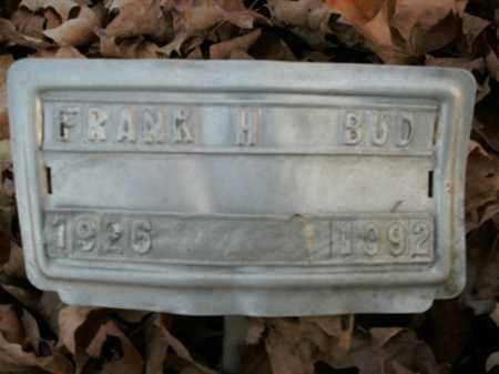BUD, FRANK H. - Boone County, Arkansas | FRANK H. BUD - Arkansas Gravestone Photos
