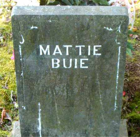 BUIE, MATTIE - Boone County, Arkansas | MATTIE BUIE - Arkansas Gravestone Photos