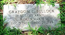BULLOCK  (VETERAN WWII), GRAYDON CHARLES - Boone County, Arkansas | GRAYDON CHARLES BULLOCK  (VETERAN WWII) - Arkansas Gravestone Photos