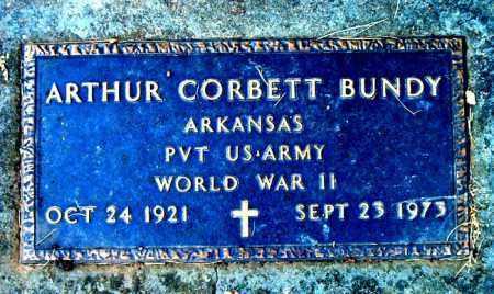 BUNDY  (VETERAN WWII), ARTHUR CORBETT - Boone County, Arkansas | ARTHUR CORBETT BUNDY  (VETERAN WWII) - Arkansas Gravestone Photos
