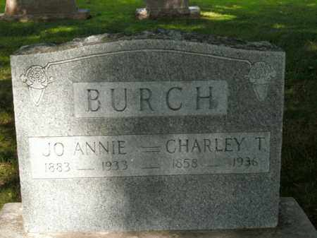 BURCH, CHARLEY T. - Boone County, Arkansas | CHARLEY T. BURCH - Arkansas Gravestone Photos