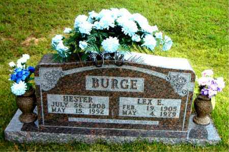 BURGE, HESTER - Boone County, Arkansas | HESTER BURGE - Arkansas Gravestone Photos