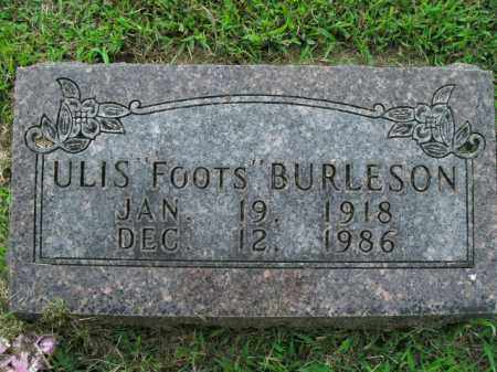 BURLESON, ULIS - Boone County, Arkansas | ULIS BURLESON - Arkansas Gravestone Photos