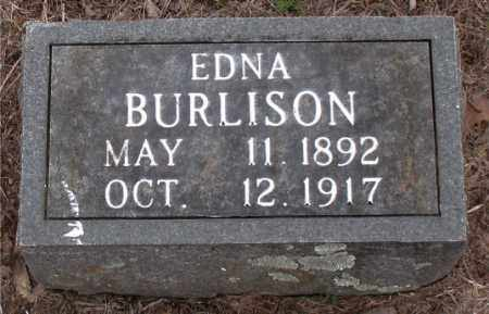BURLISON, EDNA - Boone County, Arkansas | EDNA BURLISON - Arkansas Gravestone Photos