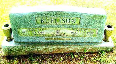 BURLISON, MARTHA  C. - Boone County, Arkansas | MARTHA  C. BURLISON - Arkansas Gravestone Photos