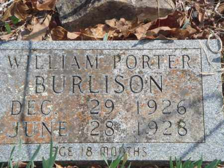 BURLISON, WILLIAM PORTER - Boone County, Arkansas | WILLIAM PORTER BURLISON - Arkansas Gravestone Photos