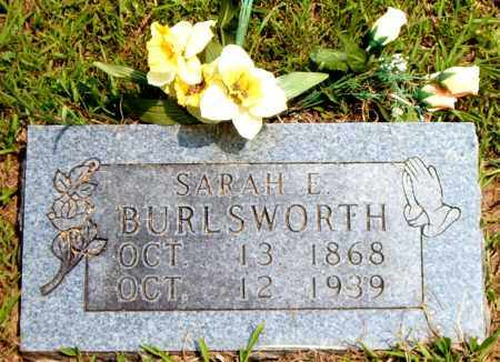BURLSWORTH, SARAH E. - Boone County, Arkansas | SARAH E. BURLSWORTH - Arkansas Gravestone Photos