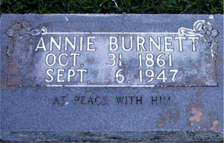 BURNETT, ANNIE - Boone County, Arkansas | ANNIE BURNETT - Arkansas Gravestone Photos