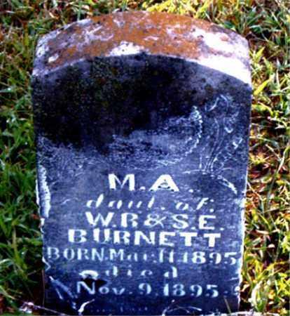 BURNETT, M.  A. - Boone County, Arkansas | M.  A. BURNETT - Arkansas Gravestone Photos