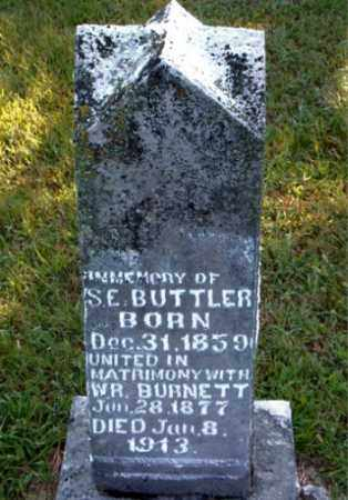 BUTTLER BURNETT, S.  E. - Boone County, Arkansas | S.  E. BUTTLER BURNETT - Arkansas Gravestone Photos