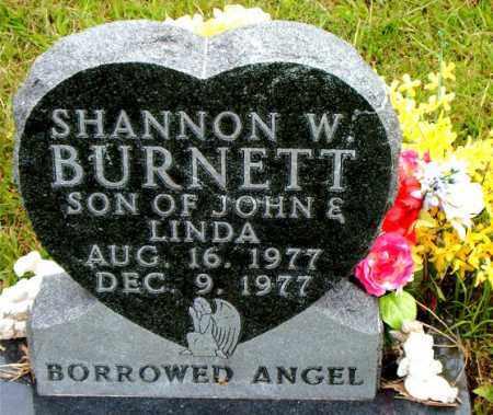 BURNETT, SHANNON  W. - Boone County, Arkansas | SHANNON  W. BURNETT - Arkansas Gravestone Photos