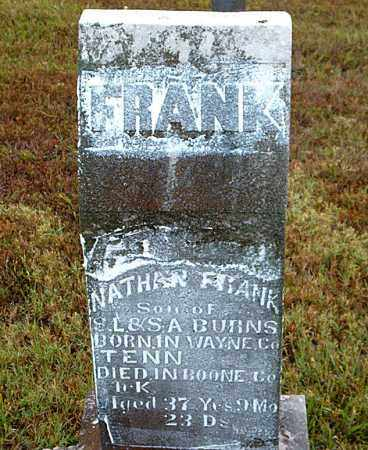 BURNS, NATHAN FRANK - Boone County, Arkansas | NATHAN FRANK BURNS - Arkansas Gravestone Photos
