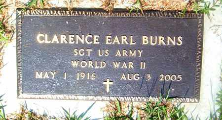 BURNS  (VETERAN WWII), CLARENCE EARL - Boone County, Arkansas | CLARENCE EARL BURNS  (VETERAN WWII) - Arkansas Gravestone Photos