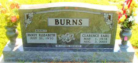 BURNS, CLARENCE EARL - Boone County, Arkansas | CLARENCE EARL BURNS - Arkansas Gravestone Photos