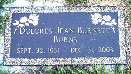 BURNETT BURNS, DOLORES  JEAN - Boone County, Arkansas | DOLORES  JEAN BURNETT BURNS - Arkansas Gravestone Photos