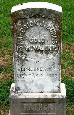 BURNS  (VETERAN UNION), FREDRICK J - Boone County, Arkansas | FREDRICK J BURNS  (VETERAN UNION) - Arkansas Gravestone Photos