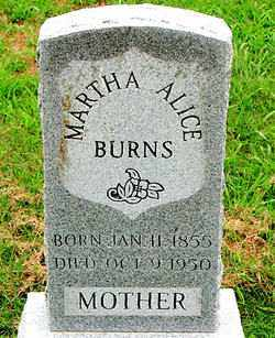 BURNS, MARTHA ALICE - Boone County, Arkansas | MARTHA ALICE BURNS - Arkansas Gravestone Photos