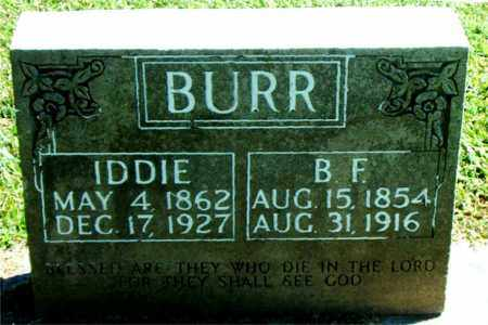 BURR, IDDIE - Boone County, Arkansas | IDDIE BURR - Arkansas Gravestone Photos