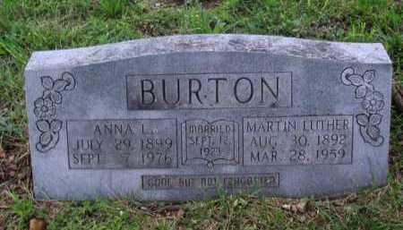BURTON, MARTIN LUTHER - Boone County, Arkansas | MARTIN LUTHER BURTON - Arkansas Gravestone Photos
