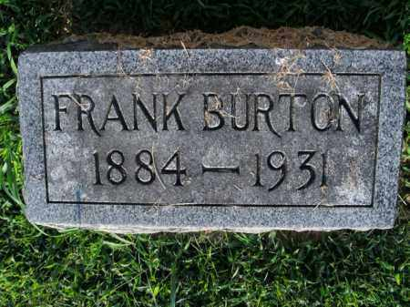 BURTON, FRANK - Boone County, Arkansas | FRANK BURTON - Arkansas Gravestone Photos
