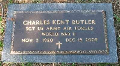 BUTLER (VETERAN WWII), CHARLES KENT - Boone County, Arkansas | CHARLES KENT BUTLER (VETERAN WWII) - Arkansas Gravestone Photos