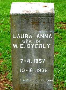 BYERLY, LAURA ANNA - Boone County, Arkansas | LAURA ANNA BYERLY - Arkansas Gravestone Photos