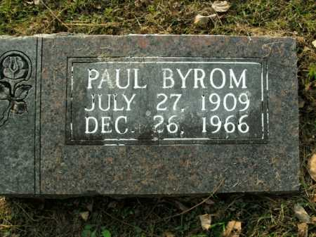 BYROM, PAUL - Boone County, Arkansas | PAUL BYROM - Arkansas Gravestone Photos