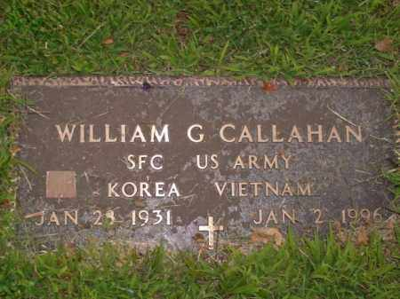 CALLAHAN  (VETERAN 2 WARS), WILLIAM G. - Boone County, Arkansas | WILLIAM G. CALLAHAN  (VETERAN 2 WARS) - Arkansas Gravestone Photos