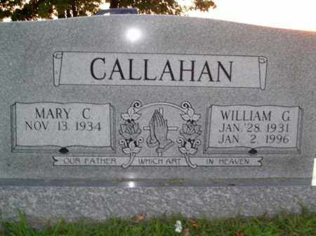 CALLAHAN, WILLIAM G. - Boone County, Arkansas | WILLIAM G. CALLAHAN - Arkansas Gravestone Photos