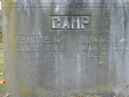 CAMP, JENNIE A. - Boone County, Arkansas | JENNIE A. CAMP - Arkansas Gravestone Photos