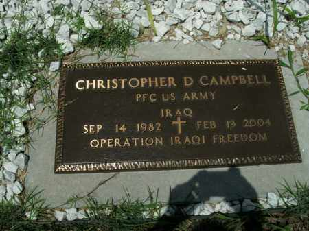 CAMPBELL  (VETERAN IRAQ), CHRISTOPHER D. - Boone County, Arkansas | CHRISTOPHER D. CAMPBELL  (VETERAN IRAQ) - Arkansas Gravestone Photos